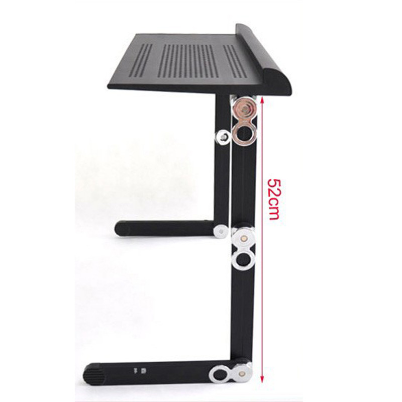High Quality Strong Portable Adjusting Laptop Table Desk with Zinc Alloy Joint Capacity 65kgs Full Black Color(China (Mainland))