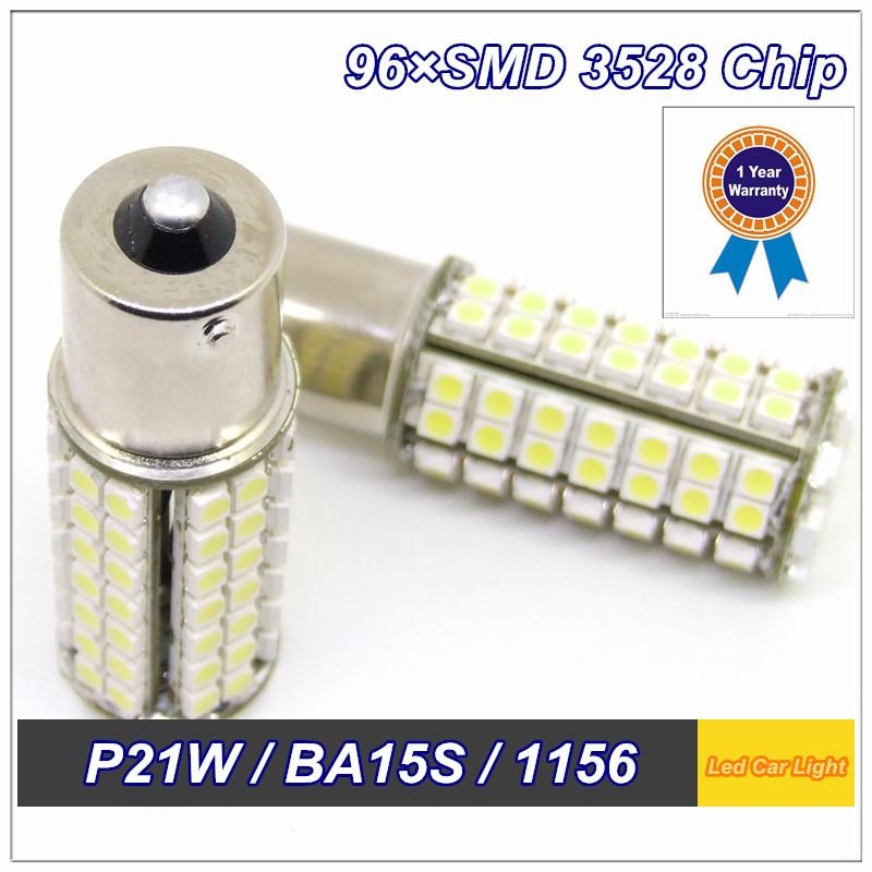 2014 New Products 2 PCS P21W BA15S 1156 S25 1141 96 SMD 3528 DC 12V Turn/ Indicator/ Reverse Wedge Led Bulb(China (Mainland))