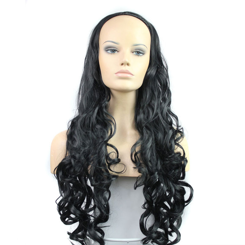 Cheap Wig 1pcs/33 280g Free Shipping Ladies Half Wig Long Wavy Curly Hair Wig Synthetic Sexy Hair Product Wholesale Hot Selling<br><br>Aliexpress