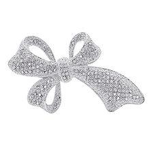 Cindy Xiang Cute Vintage Berlian Imitasi Busur Bros untuk Wanita Besar Elegan Ikatan Simpul Pin Bros Gaya Musim Dingin Kualitas Tinggi Bros Hadiah(China)