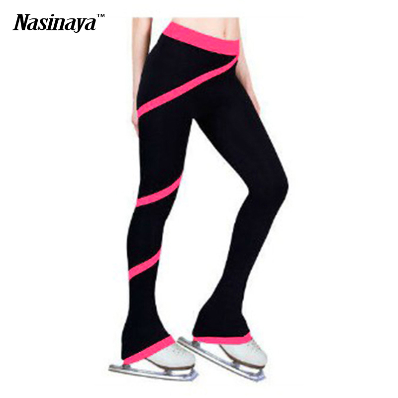 Customized Clothes Figure Skating Pants Rhythmic Gymnastics Trousers Fabric Adult Child Girl Clothing Performance Purple Pink(China (Mainland))