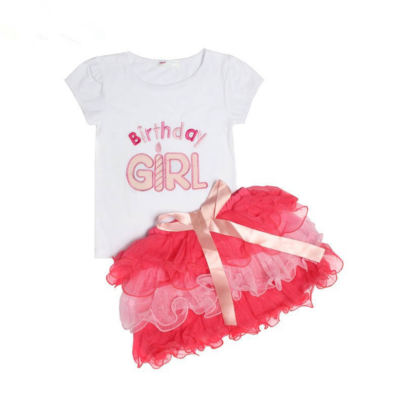 baby sets cute birthday girl tutu skirts summer wear clothing 2 pieces outfits clothes - baby_mart store