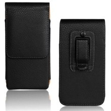 High Quality PU Leather Mobile Phone Case Belt Clip Pouch Case for iPhone 6S Plus Free