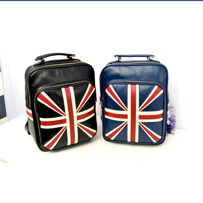 Free Shipping Women Men Cool Fashion Union Jack Shoulder Bags Hand Bags British Style Union Jack Flag Backpack Rucksack(China (Mainland))
