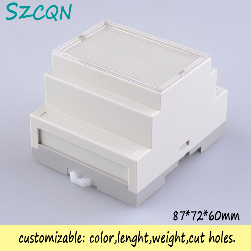 () din rail plastic electronic project box ABS fireproof materials case 87*72*60mm - QN-Enclosure Technology CO.,ltd store