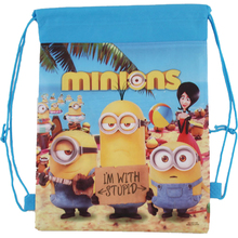 Children School Bags Despicable Me&Minions Kids Cartoon Drawstring Bag  Mochila Infantil For Gift&Bag(China (Mainland))