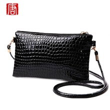 Bags Lady Patent leather Crocodile messenger bags New Arrival fashion small PU Leather shoulder crossbody bag women clutch