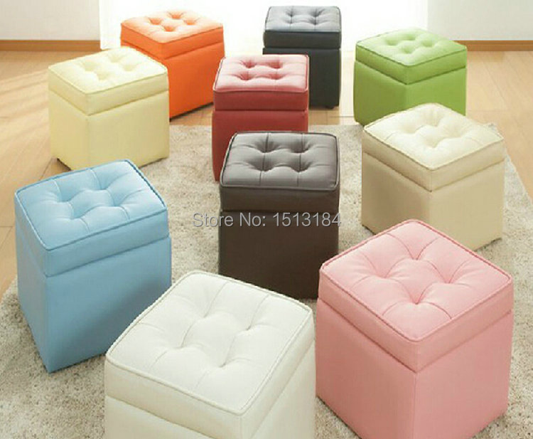 home smart furniture leather storage stool folding leather ottoman(China (Mainland))