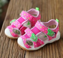Hot SALE Baby LED Light Sandals 2016 Summer Brand Captain Soft Leather Boys Girls Shoes Kids Fashion Beach Sandals Size21-26(China (Mainland))