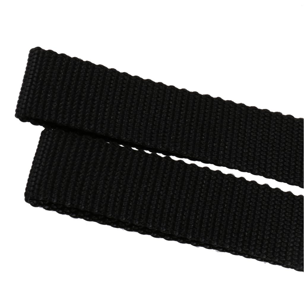 2pcs Hood Loops Anchor Straps Tie Down Hood Kayak Canoes Boats Accessories Black
