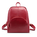 New 2016 Women Fashion Backpack Casual Genuine Leather Backpack 5 Colors School Bags For Teenagers Girls