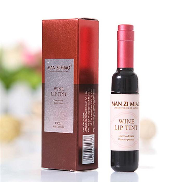 6 Cores Vinho Tinto Garrafa Manchado Fosco Lip Gloss fácil de Usar Super Matiz Batom Líquido batom