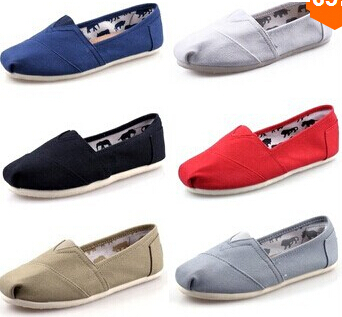 women flats shoes fashion sneakers Simple men casual woman flat loafers Plus size 35-45 - Housewife supermarket store