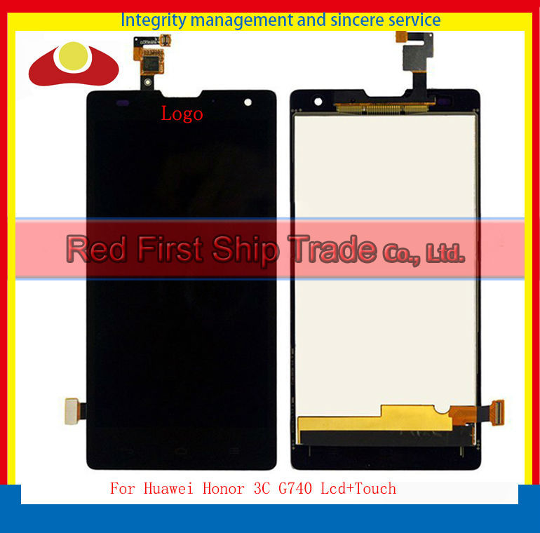 5Pcs/lot Original For Huawei Honor 3C G740 Lcd Display Assembly Complete + Touch Screen Digitizer 5.0 inch 1280*720 Black