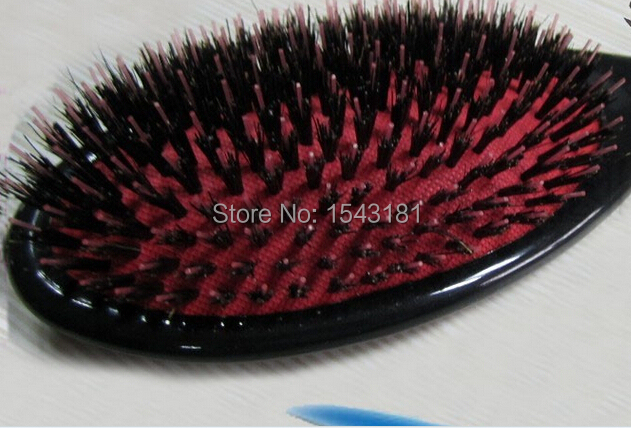 Professional Anti-Static Hair Brush Paddle Brush Comb 1pc escova de cabelo brosse a cheveux real wild boar bristle brush(China (Mainland))