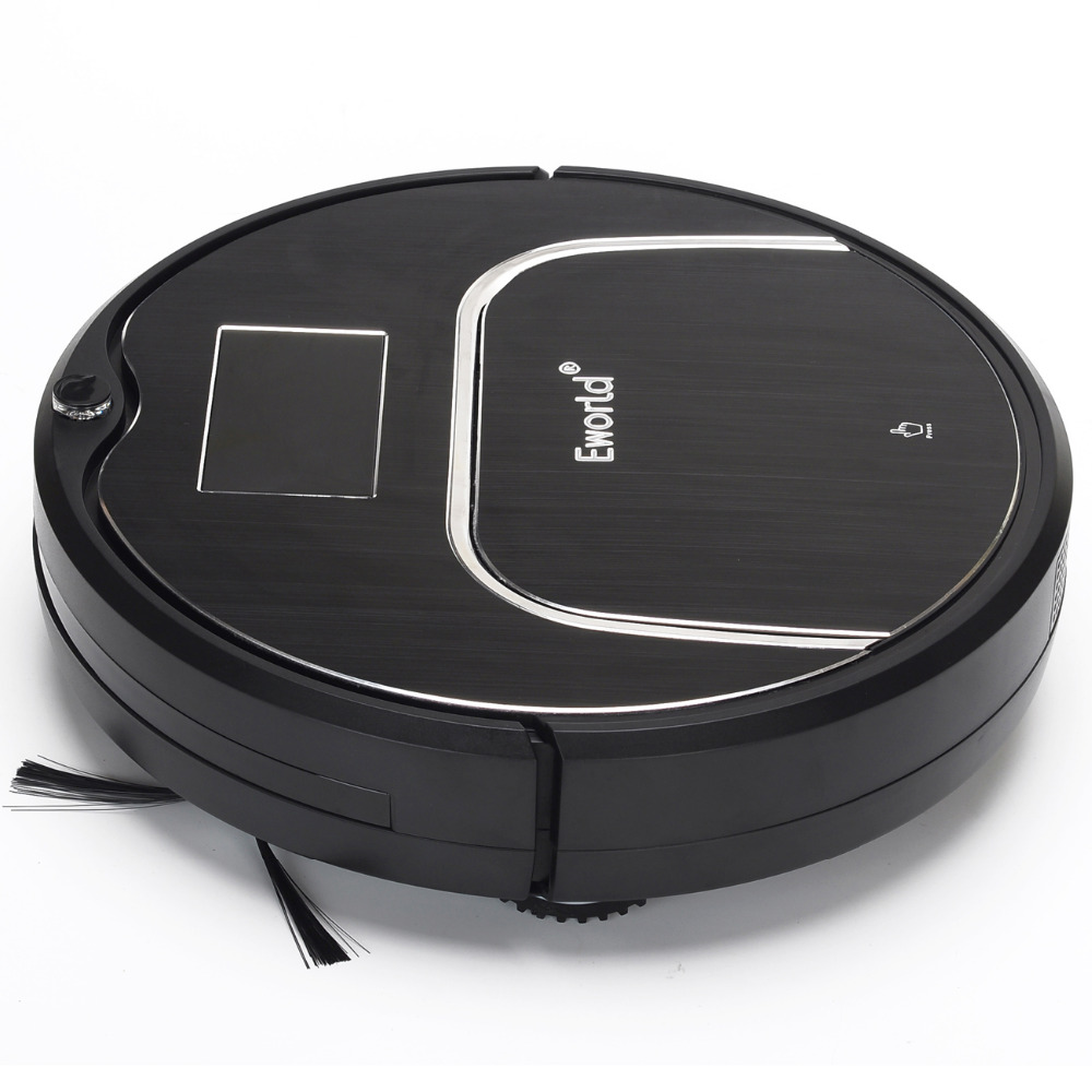 (Free to Europe) 2016 Newest Model M883 E-World Robot Vacuum Cleaner with Mop, Schedule,SelfCharge with LCD(China (Mainland))