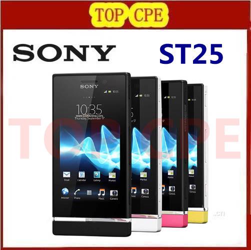Sony Xperia U ST25 ST25i 3G GPS WIFI 5MP Android Unlocked Original Mobile Phone one year warranty(China (Mainland))