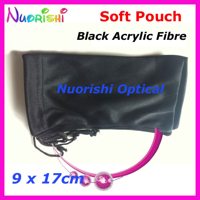 20/40/100pcs Black Acrylic Fibres Spectacle Sunglass Eyewear Eyeglasses Glass Soft Cloth Bag Pouch Case CP040 Free Shipping(China (Mainland))