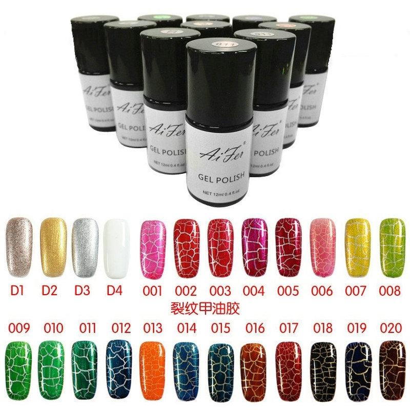 24 color new design fashion crackle nail art polish/Crack nail polish crackle nail polish gel ZX:NP082(China (Mainland))