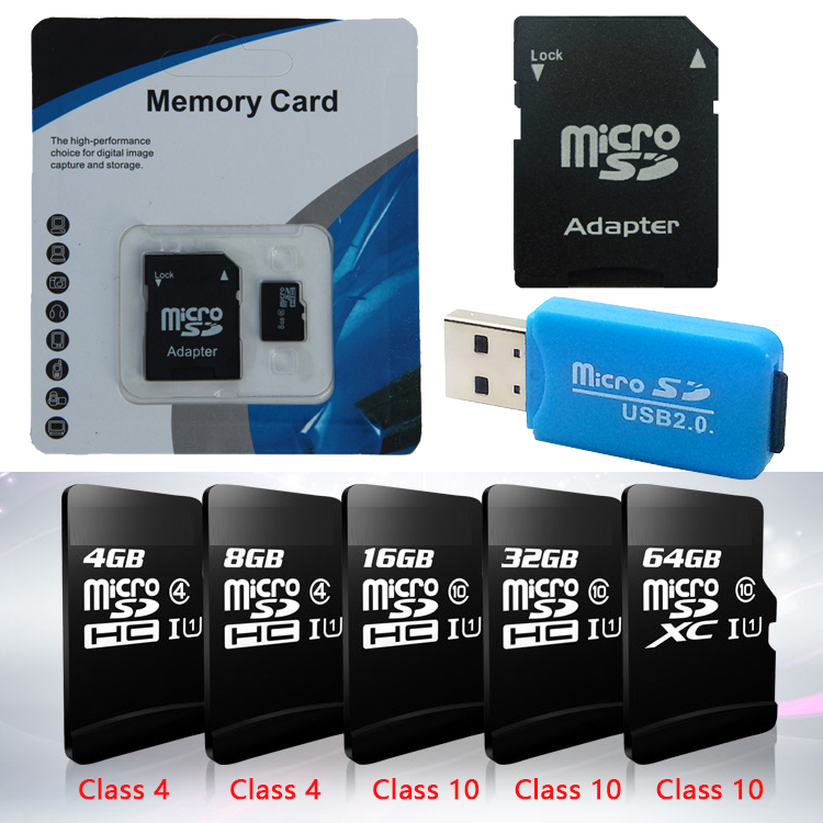 High Quality 2016 Micro Sd Card 64gb Class10 16GB 32GB Memory Card Cartao De Memoria 32 Gb Class4 Microsd 4GB 8GB Tf Card 128gb(China (Mainland))