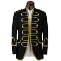 Luxury Palace Style Men Suits Fashion Gold Edge Mens Suits w Pants Bow Tie Groom Wedding