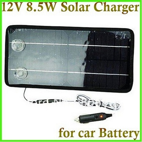 HOT Sale!12V 8.5W Solar Car Charger Solar Panel Charger For Car/Mobile Phone/Other 12V Rechargeable Battery Free shipping<br><br>Aliexpress