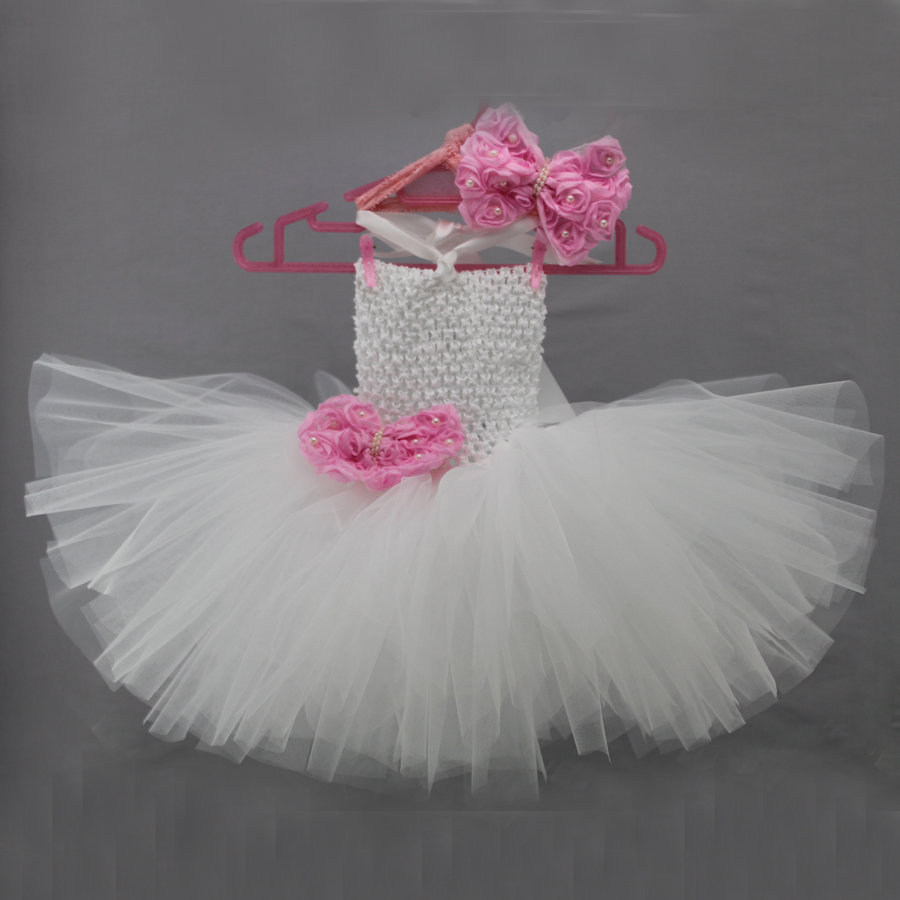 Beautiful White Baby Newborn Tutu Dress Baby Girl Birthday Party Wedding Infant Princess Tulle Baby Dresses For Girls Pink Bows<br><br>Aliexpress