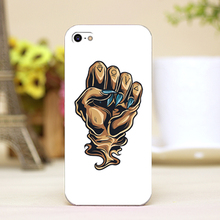 pz0024-3-6 fist tattoo Design Customized cellphone cases For iphone 4 5 5c 5s 6 6plus Shell Hard Lucency Skin Shell Case Cover