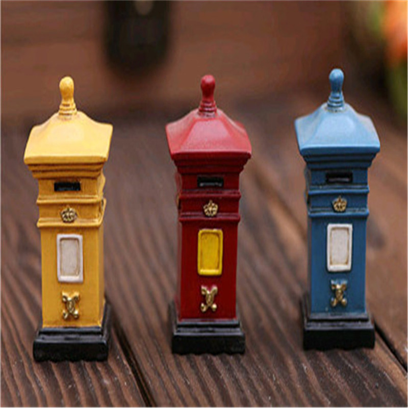 HEY FUNNY 1 piece Succulents moss micro landscape ecology bottle decoration resin toys Continental retro nostalgia mailbox(China (Mainland))