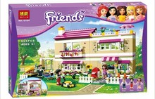 695pcs Bela 10164 Girl friends Oliver's House minifigures Oliver/Peter/Anna Model building blocks set Brick Compatible Legoelied(China (Mainland))