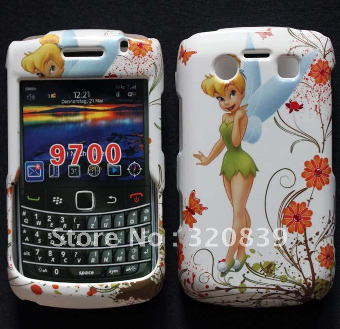 Lovely Angel Princess Butterfly Flower Design Hard Skin Cover Case For Blackberry Bold 9700 9780(China (Mainland))