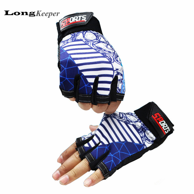 LongKeeper Mens Sport Gloves Semi finger Gym Mittens Half fingerless Men Women Luva Workout Guantes Eldiven