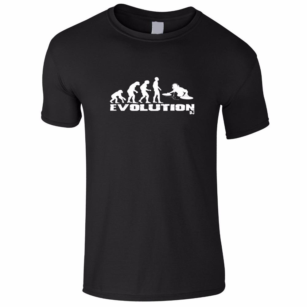 Design your own t shirt good quality - 2017 Fashion 100 Cotton Slim Fit Top Shirts For Men Evolution Of Dj Decks Music Design Your Own T Shirt