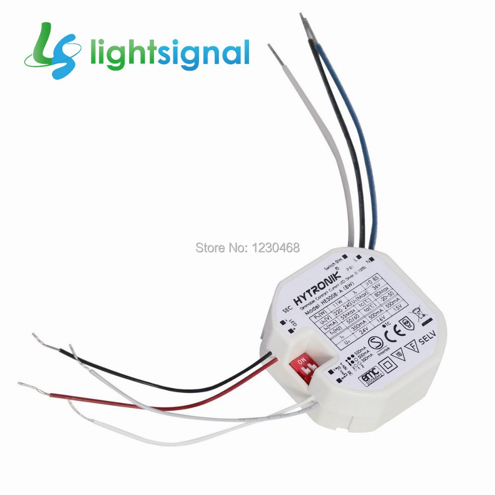 8W constant current dimmable LED driver,350ma / 500mA / 550mA, with 1~10v dimming & switch-dim(China (Mainland))