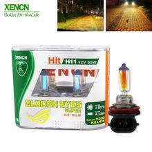 Buy XENCN H11 12V 55W PGJ19-2 2300K Golden Eyes Super Yellow Light Halogen E1 DOT Car Bulbs Fog Lamp mercedes toyata honda for $18.83 in AliExpress store