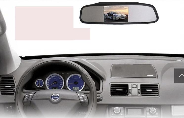 5 Inch Car Rear View Mirror Monitor TFT LCD Monitor Retail/Pc Free Shipping(China (Mainland))