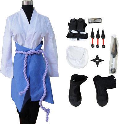 Naruto 3rd Uchiha Sasuke Cosplay Costume whole set(China (Mainland))