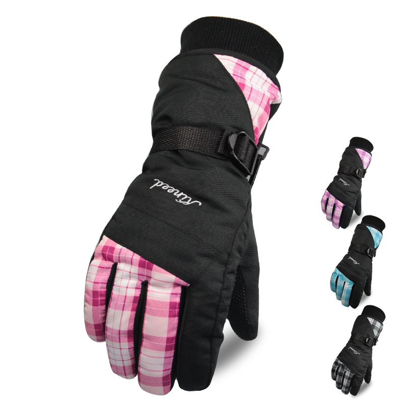 Winter Outdoor Sports Women Windproof waterproof Cycling Ski Snow Snowmobile Motorcycle snowboard Skiing Gloves L-BW35-05(China (Mainland))