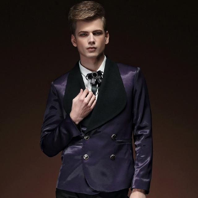 Бесплатная доставка мода свободного покроя мужская мужской весны 2015 новый костюм ...