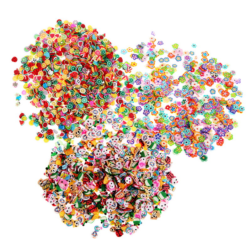 1000Pcs 3 Series Of Fimo clay jewelry 3D nail decorative stickers GUB#(China (Mainland))
