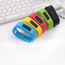 Healthy Smart Sport Watch Wireless Bluetooth Healthy Bracelet Wristband Watch Jelly Multi-Color OLED Pedometer Smart Watches(China (Mainland))