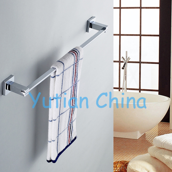 """Free Shipping (24"""",60cm)Single Towel Bar/Towel Holder,Solid stainless steel,Chrome Finish,,Bathroom accessories,YT-11396(China (Mainland))"""