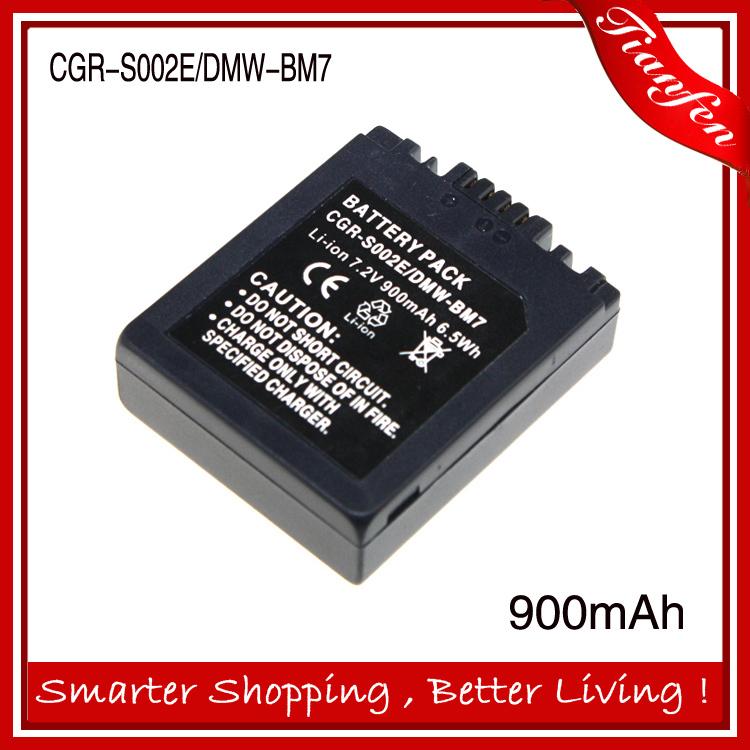 7.2v 900mAh CGR-S002E DMW-BM7 CGAS002E  CGA S002E  Battery For Panasonic DMC-FZ10 FZ15 FZ2 FZ20 FZ3 FZ4 FZ5 Series<br><br>Aliexpress