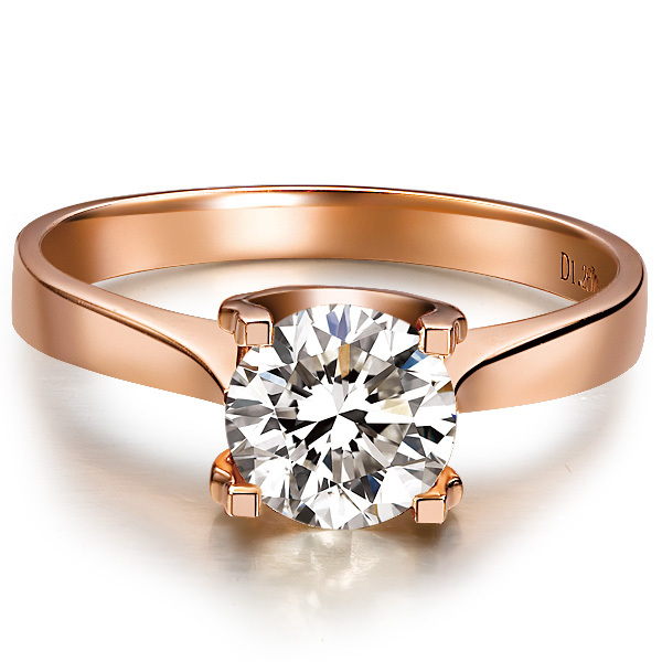 1 CT Love Promise Oxhead SONA Synthetic Diamond Engagement Ring Sterling Silver 18K Rose Gold Plated Claw Setting Jewelry 925(China (Mainland))