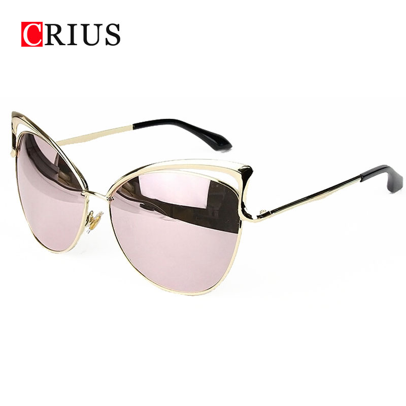 Cat eyes women's sunglasses for women women's sun glasses metal brand designer Vintage retro oculos de sol feminino 2016 new(China (Mainland))