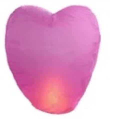 [ Fly Eagle ] 10pcs/lot Pink Heart shape Chinese Sky Wish Lantern Ballons Flying Wishing Lamp for Birthday Wedding Party(China (Mainland))