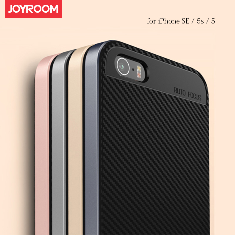 2in1 Case for iPhone SE / iPhone5 / iPhone5s Silicone Back Cover + PC Frame Full Body Protect Good Hand Feel Original Joyroom(China (Mainland))