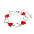 2016 New romantic heart shaped red temperature change chain bracelet pulseras hombre charm bracelet women Valentine