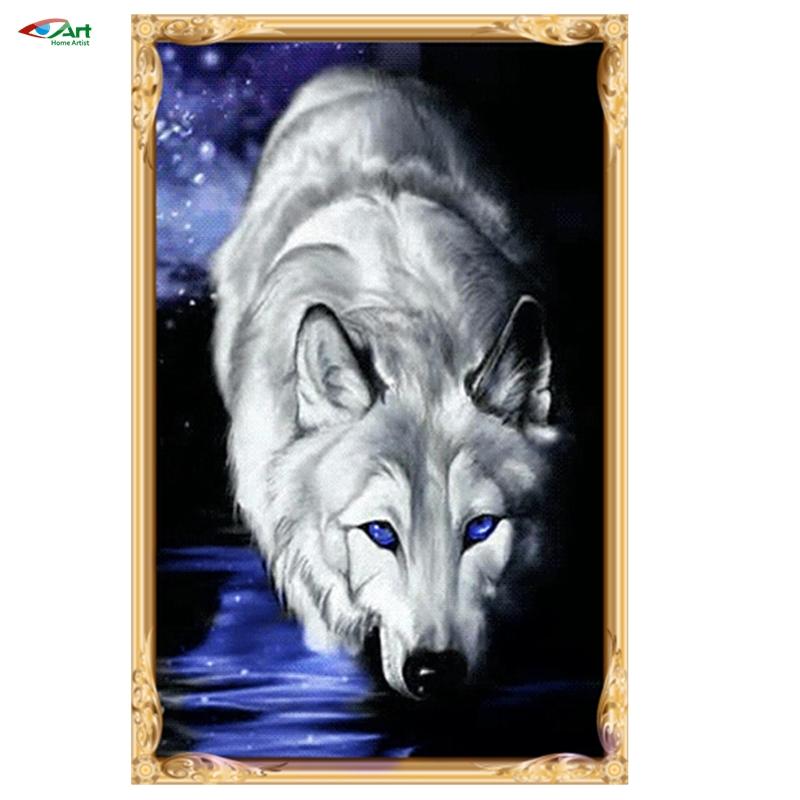 Diy Diamond picture set -wolf 0056------ diy resinstone square diamond painting handcraft not finished set