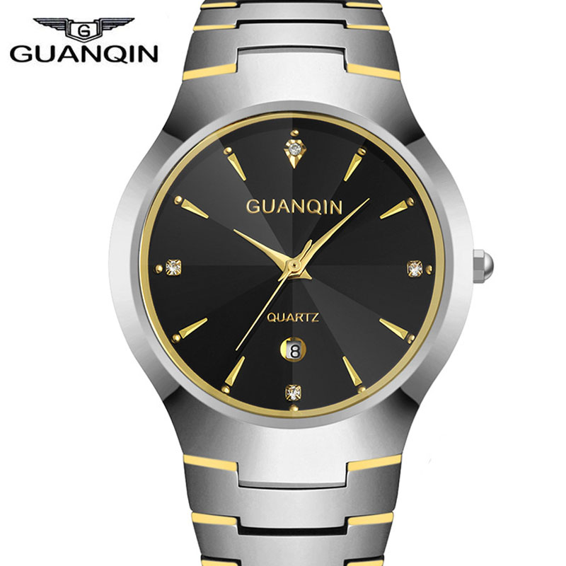 hot Selling relojes mujer Quartz Watch 2015 Luxury Brand GUANQIN GQ30018 Full Tungsten Steel Casual  Lover Waterproof watches<br><br>Aliexpress